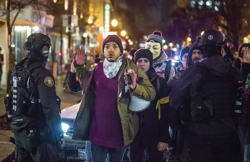TRIBUNE PHOTO: JONATHAN HOUSE  - Gregory McKelvey, a leader in the Black Lives Matter protest movement, has been an outspoken critic of the Portland police.