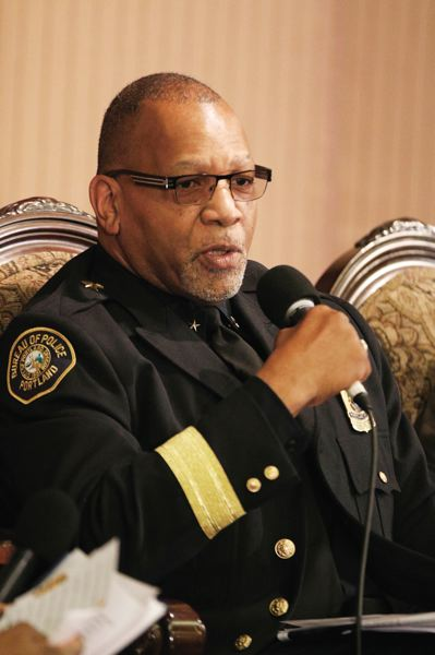TRIBUNE PHOTO: JONATHAN HOUSE  - Portland Police Capt. Kevin Modica says that African-Americans are the subject of an intangible sense of otherness in overwhelmingly white Portland.