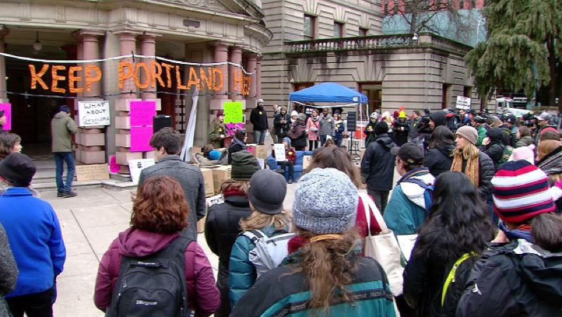KOIN 6 NEWS - Portland Tenants United held a rally outside City Hall before the Feb. 2 vote.