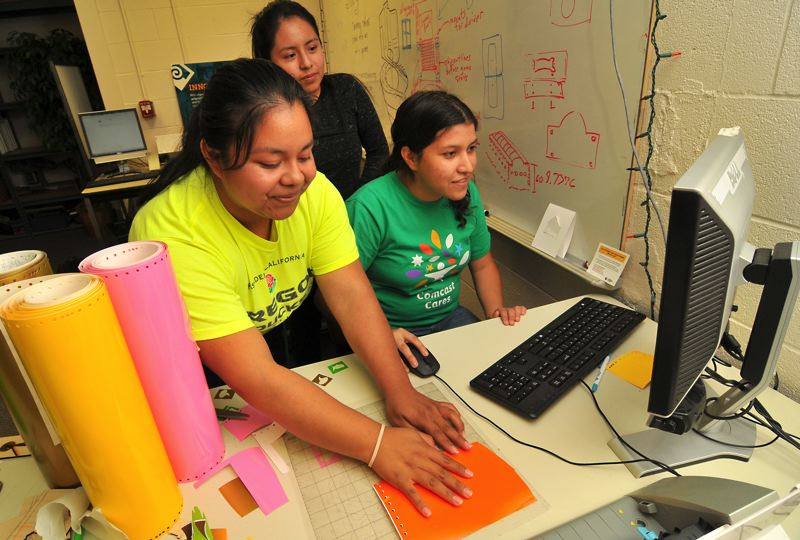 SUBMITTED: PCC - Young women take part in a recent workshop in game making at the Sylvania Campus.
