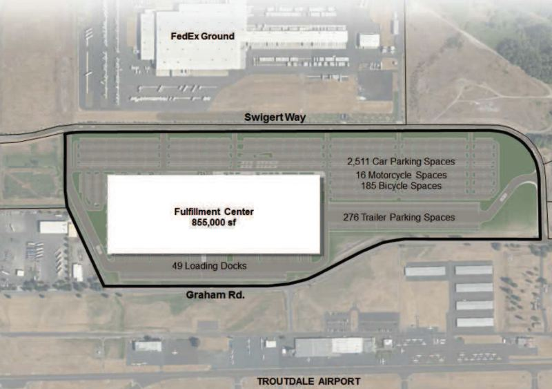 PORT OF PORTLAND - The new Amazon.com fulfillment center will have over 2,500 parking spots.