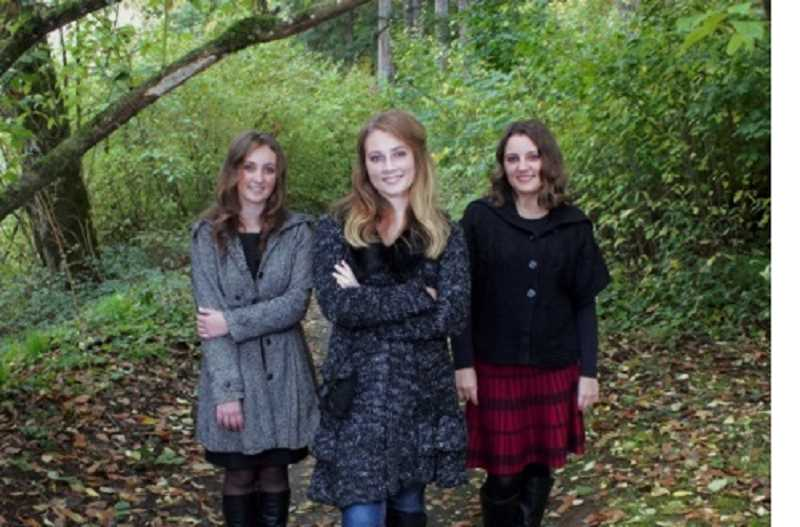 COURTESY OF THE MALLORY FAMILY - The Mallory sisters – (from left) Ivy, Megan and Chesney -- have filmed music videos walking in the woods in Champoeg State Park.
