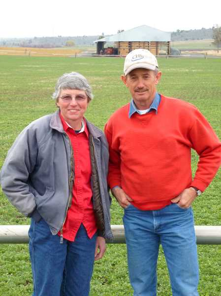 SUBMITTED PHOTO - Nancy and Martin Richards own and operate a 350-acre farm, Fox Hollow Ranch, in Madras.