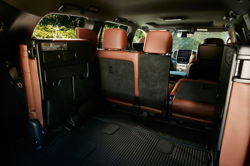 COURTESY TOYOTA - Traditional jump seats make up the third row in the 2017 Toyota Land Cruiser, a reminder of the vehilce's earlier days.