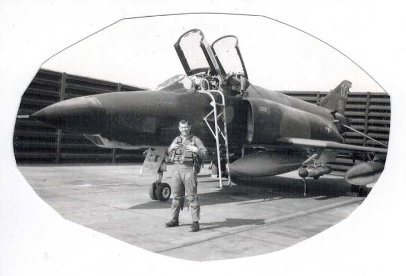 "COURTESY OF BOB RODZWELL - Bob Rodzwell volunteered to go to Vietnam and was assigned to fly the plane he wanted to fly -- an F-4 Phantom. ""The F-4 Phantoms flew at twice the speed of sound, and I thought I'd fly the fastest thing around,"" he said."