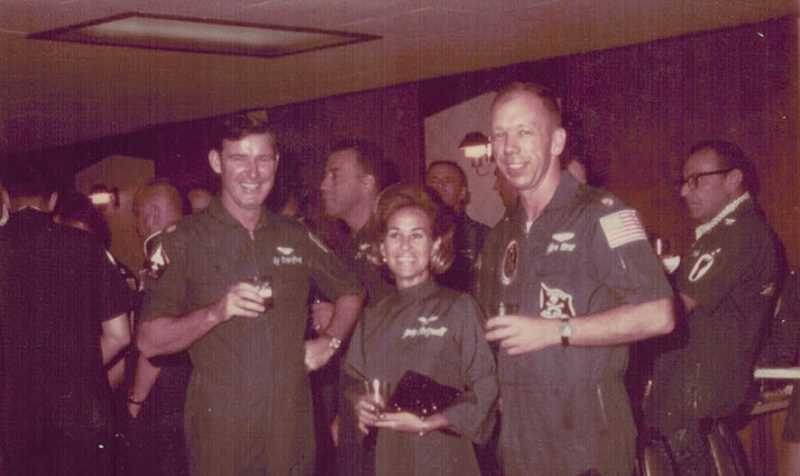 COURTESY OF BOB RODZWELL - Bob Rodzwell's wife Jody, who lived in Bangkok with their two daughters while he flew in the Vietnam War, occasionally made it to the Udorn air base, where she had her own flight suit and partied with the guys.