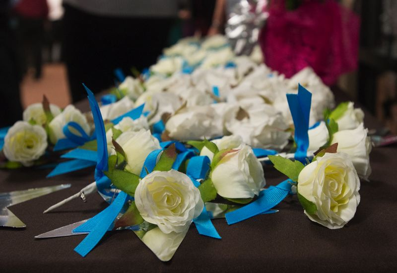 OUTLOOK PHOTO: JOSH KULLA - Mountainview Christian Church held its first ever Night to Shine prom for people with special needs, shich is sponsored by the Tim Tebow Foundation. All the male guests got a boutonniere and ladies a corsage.