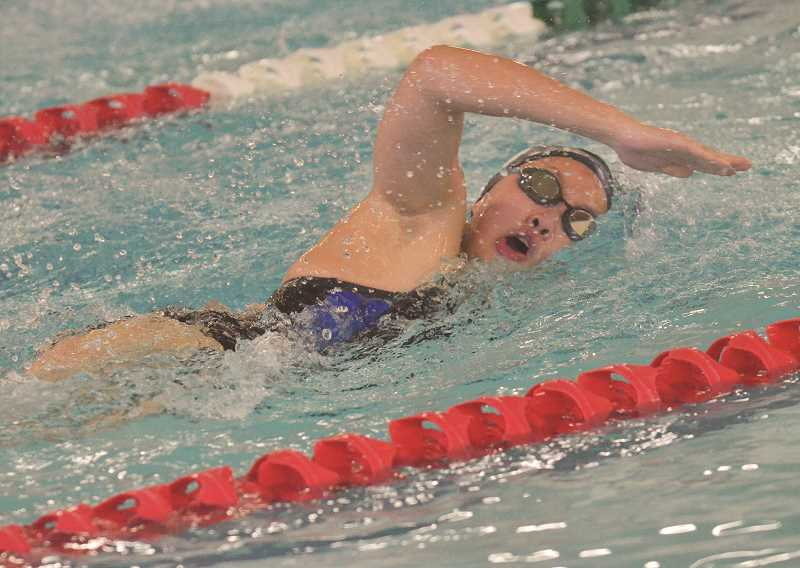 Swimming: Sarah Carr, girls relay team bests Northwest Oregon Conference field