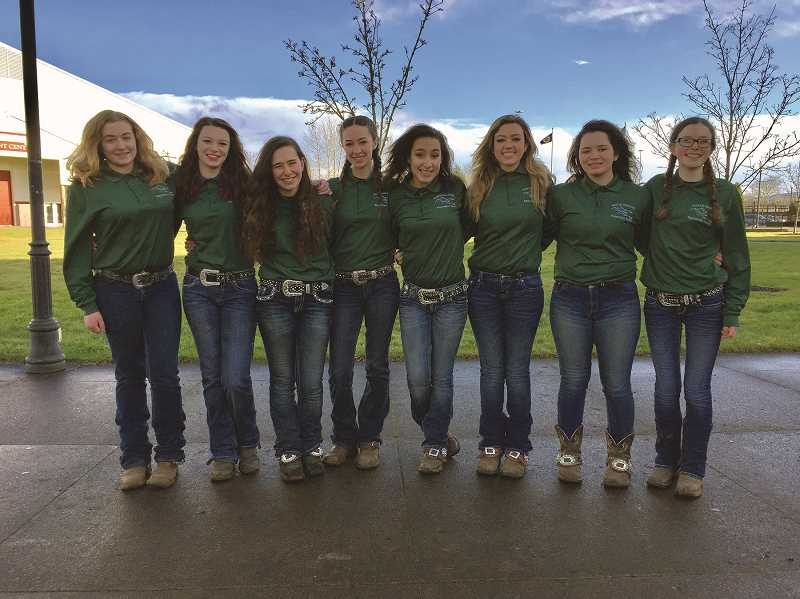 COURTESY OF KIM KNIGHT - The 2017 North Marion equestrian team features five seniors and eight members, the largest roster the Huskies have fielded in years.