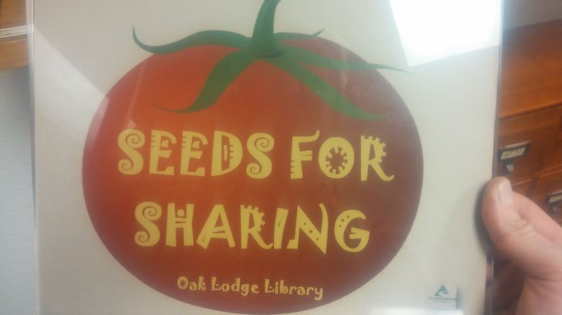 PHOTO BY: RAYMOND RENDLEMAN - Through the Seeds for Sharing Library, you can even rent gardening tools using your county library card.