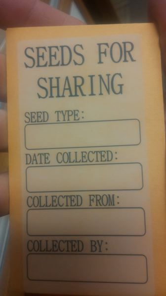 PHOTO BY: RAYMOND RENDLEMAN - You can donate seeds that you collect back to the Oak Lodge Library in special packets designed to look like old-fashioned manila envelopes.