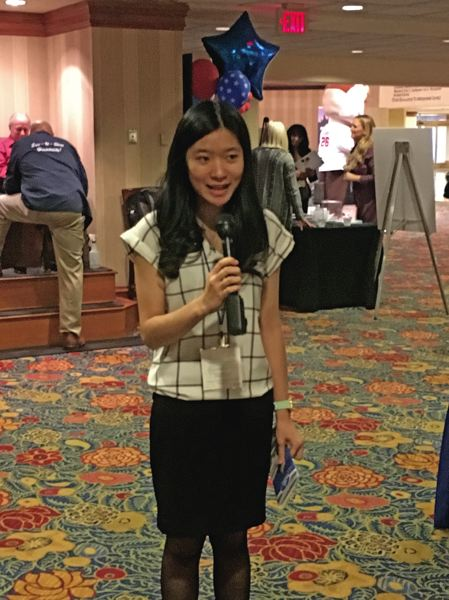 Clackamas High School student Nicole Zhen speaks at a National League of Cities event last spring in Washington, D.C.