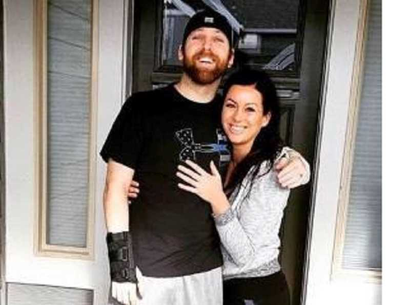 KOIN 6/HAYLEY SHELTON ON FACEBOOK - OSP Trooper Nic Cederberg poses with his wife, Hayley Shelton, a Portland police officer, after he went home 48 days after being shot multiple times following a Christmas Day homicide in King City.
