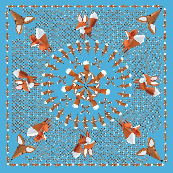 COURTESY: LITTLE FOXES - Pfeifers fox-decorated handkerchief is an award for backers.