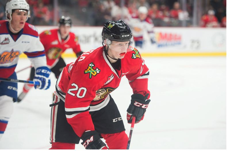 TRIBUNE PHOTO: CHRISTOPHER OERTELL - Portland Winterhawks forward Joachim Blichfeld, from Denmark, has been one of the team's top scorers this season.