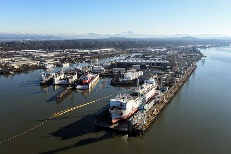 COURTESY PORT OF PORTLAND  - The Port of Portland hopes to get an earlier start cleaning up contamination in the Swan Island Lagoon, pictured here.
