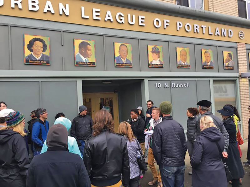 COURTESY PHOTO: KNOW YOUR CITY  - Cameron Whitten, executive director of the nonprofit Know Your City, will lead four more Hidden History of Albina walking tours this month. The tours stop at the Urban League of Portland and other sites of historical and cultural significance.
