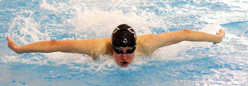 Tigers step up at district swim meet