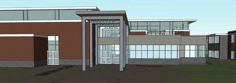 COURTESY GRAPHIC - This is what the new Fairview Elementary School will look like when it is completed.
