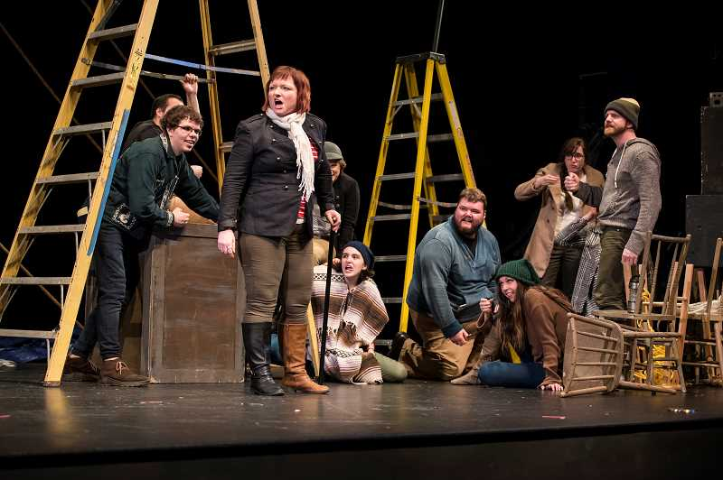 HILLSBORO TRIBUNE FILE PHOTO - Cast perform Moby Dick, Rehearsed at the Venetian in March. Bag&Baggage has performed at the downtown Hillsboro stage since 2007 and is currently constructing its own stage on Fourth and Main.