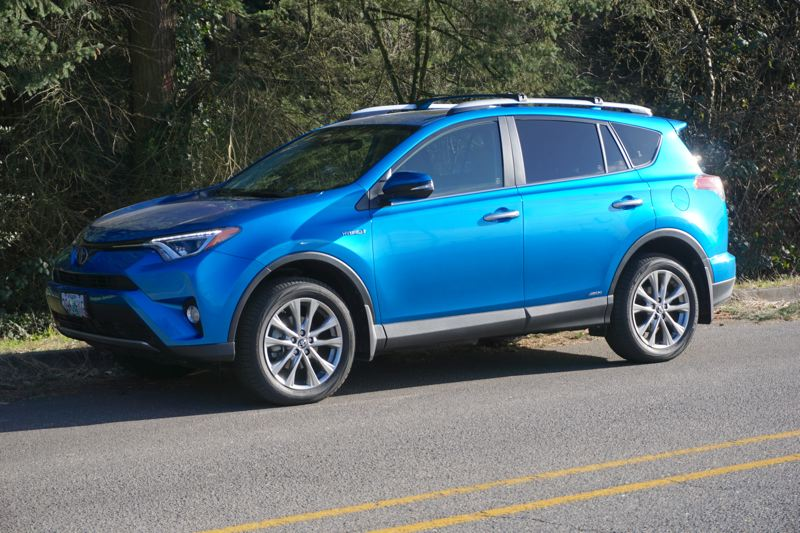 PORTLAND TRIBUNE: JEF ZURSCHMEIDE - Toyota has spiced up the styling and color selections for its current RAV4 compact crossover in keeping with the company new promise of no boring cars. The hybrid version gets 34 miles per gallon in the city, and 31 on the highway.