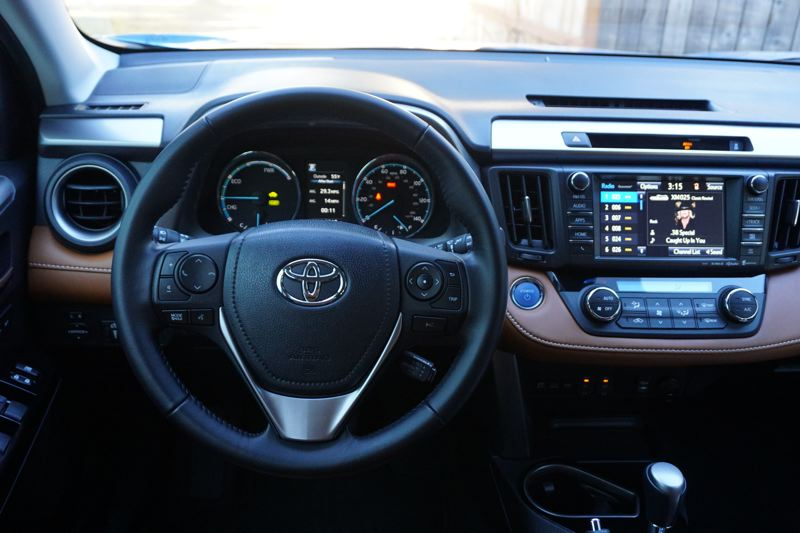 PORTLAND TRIBUNE: JEFF ZURSCHMEIDE - The 2017 Toyota RAV4 comes loaded up with technology, inlcuding available  a pre-collision system with pedestrian detection, adaptive cruise control, front and rear-looking parking sonar, blind spot monitoring, rear cross-traffic alert, backup camera and auto high beams.