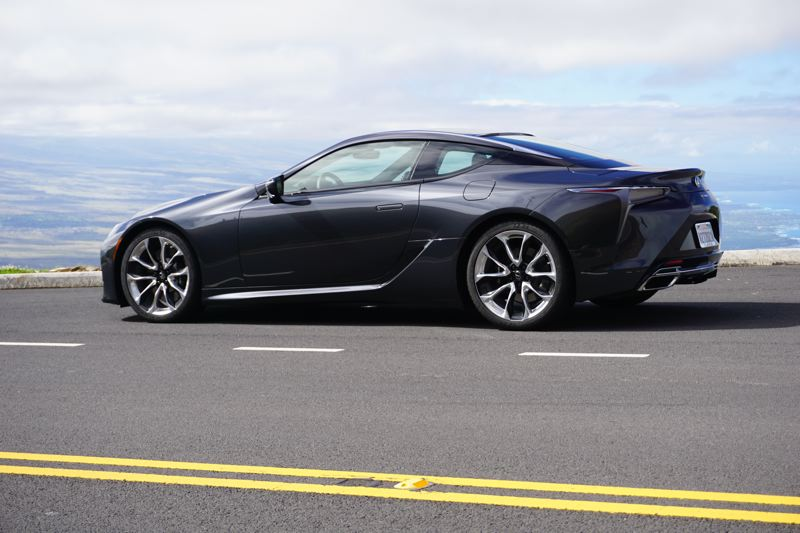 PORTLAND TRIBUNE: JEFF ZURSCHMEIDE - The 2017 Lexus LC 550 looks equally good coming and — the way most everyone will see it — going away.