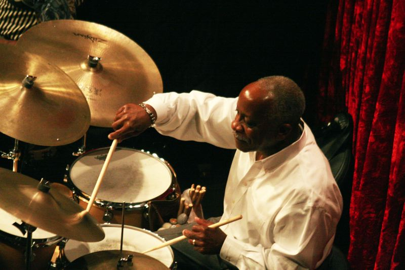 Mel Brown keeps the beat with Dizzy Gillespie's music