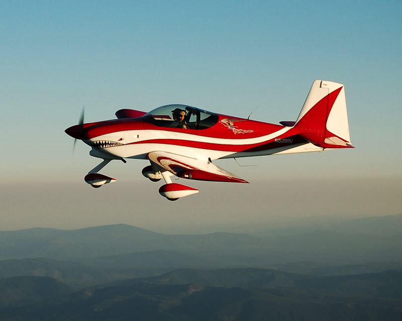 CONTRIBUTED PHOTO - Gresham flyer Mike Rhodes pilots his RV-9A single-engine, which he built from a kit in 2010.