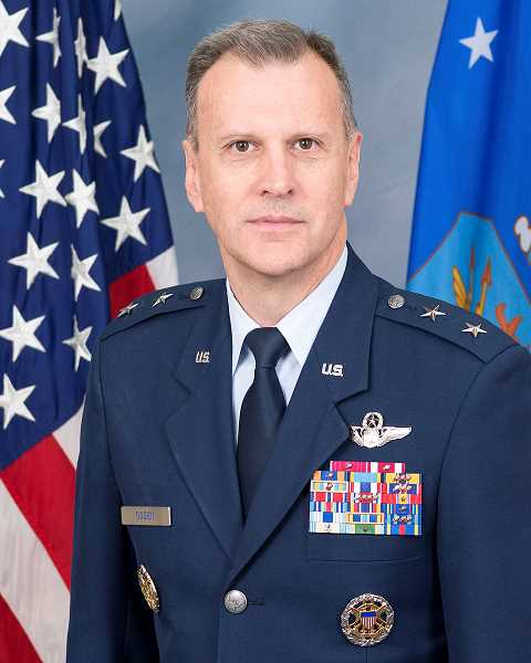 CONTRIBUTED PHOTO: U.S. AIR FORCE - Maj. Gen. Randall Ogden was recently promoted to commander of the Fourth Air Force, based in California. Prior to this, the Estacada High School graduate worked at The Pentagon in Washington, D.C.