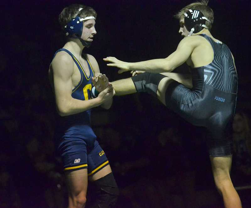 Wrestling: Canby places second at the Three Rivers League District Meet