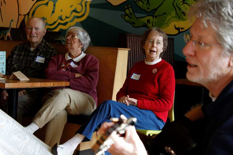 CONNECTION PHOTOS: HANNAH RANK - One of the main features of the Memory Cafe is the singalong hour, where attendees can listen or join in to simple renditions of recognizable songs.