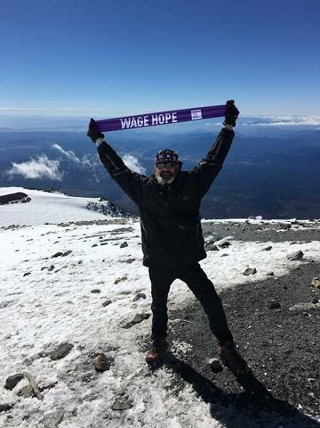 SUBMITTED PHOTO  - Heiden saw another dream come true last September, when he summited Mount Adams.