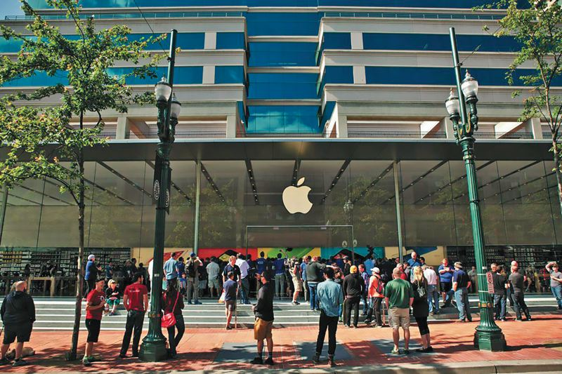 PAMPLIN MEIDA GROUP: FILE PHOTO - Apple's supply chain mastery is built on reducing risk during the product cycle, which is why iPhones are assembled in China rather than the U.S., even though it only saves $4 per device.  UP students study such companies as part of the Pamplin Busisess School's Masters of Science in OTM.