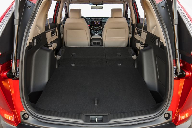 HONDA NORTH AMERICA - Cargo capacity in the 2017 Honda CR-V is practically breathtaking with the rear seats folded down.