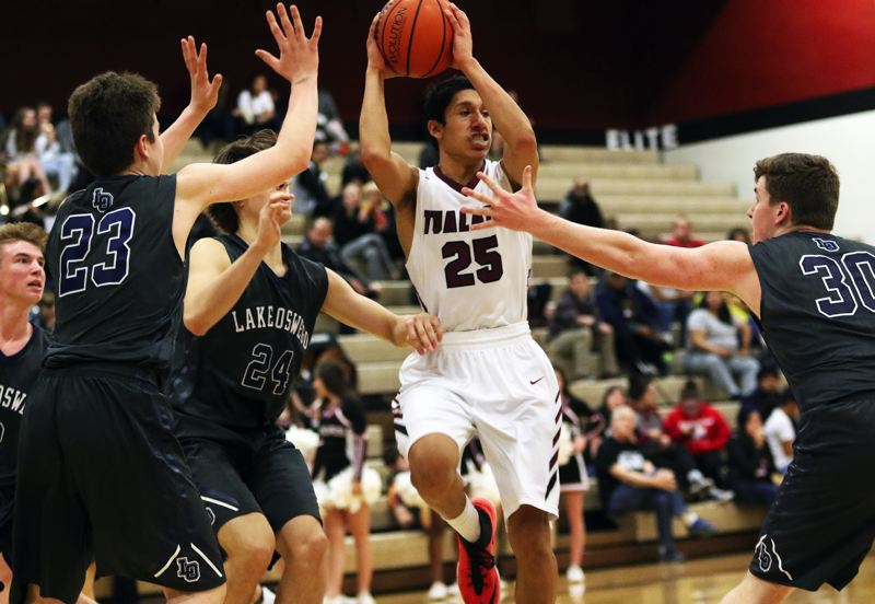 TIMES PHOTO: DAN BROOD - Tualatin junior Alexis Angeles and the 11th-ranked Timberwolves will host No. 22 Central Catholic in the first round of the Class 6A state playoffs at 7 p.m. Tuesday.