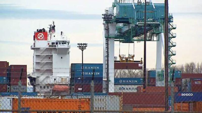 TRIBUNE FILE PHOTO - Hapag-Lloyd was the second cand final ontainer shipping line to pull out of the Port of Portland this year after Hanjin Shipping in 2015.