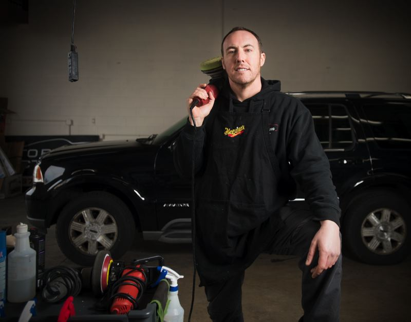 OUTLOOK PHOTO: JOSH KULLA - Gresham business owner Phil D'Avanzo has brought a new auto detailing business to Gresham that does not use pressure washing or chemicals.