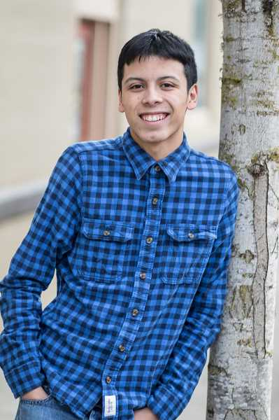 NEWS-TIMES PHOTO: CHASE ALLGOOD - Forest Grove High School senior Sergio Bucio was shocked at the personal struggles revealed by schoolmates that looked like they had everything they wanted in life.