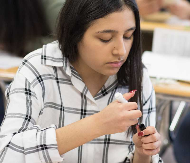 NEWS-TIMES PHOTO: CHASE ALLGOOD - FGHS junior Marina Aranda said Breaking Down the Walls focused on students individuality and thats what we needed.