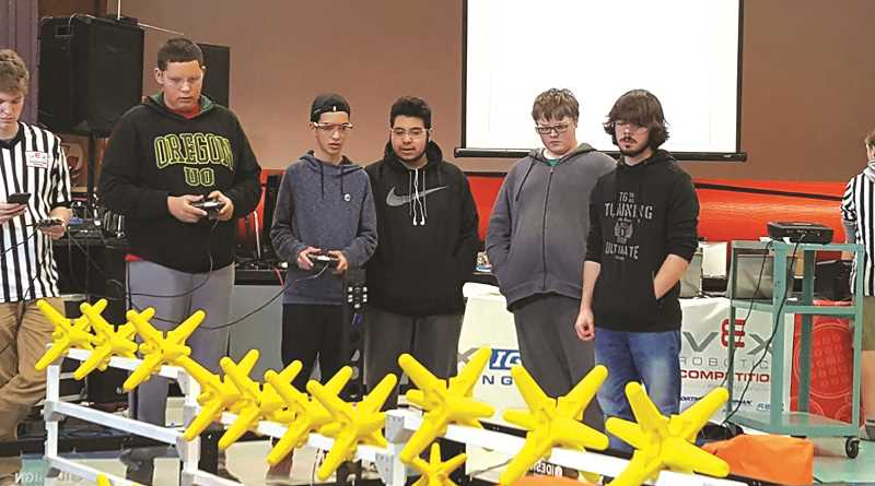 SUBMITTED PHOTO - The North Marion robotics program grew by three more teams at the latest competition.