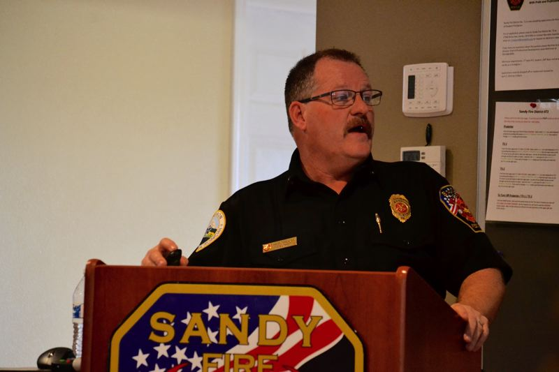 POST PHOTO: BRITTANY ALLEN - Fire Chief Phil Schneider is optimistic that with the departments recent budgeting accomplishments, the district is on to new and better things.