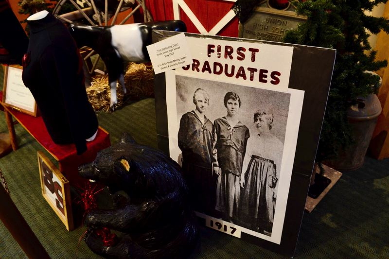 POST PHOTO: BRITTANY ALLEN - The first graduates from Sandy High school were all women: Gertrude Meinig, Sabra Deaton and Dorothy Couper.