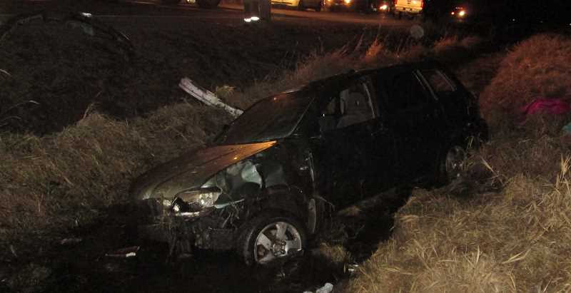 PHOTO COURTESY OF CROOK COUNTY SHERIFF'S OFFICE - This driver of this Mitsubishi Outland, Adriana Wood, sustained moderate injuries in a crash Tuesday night.