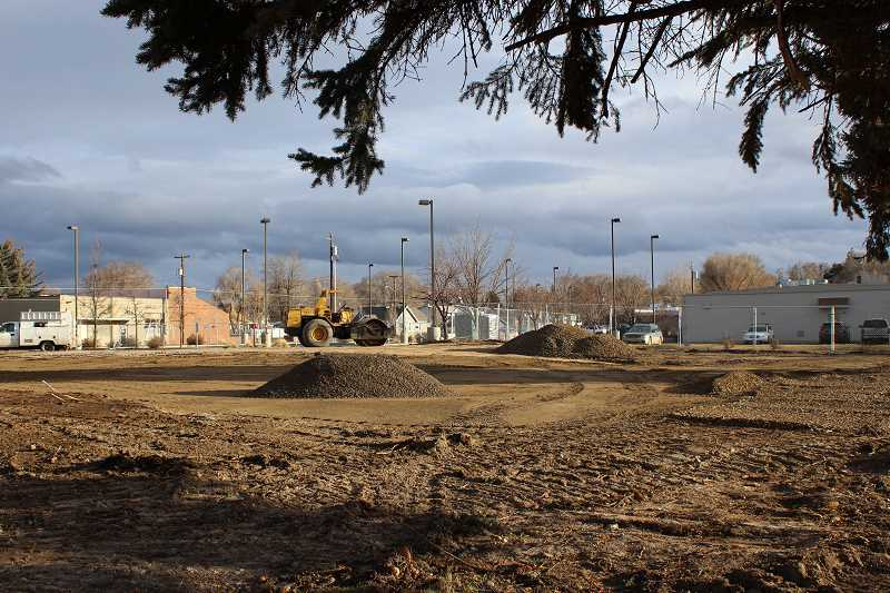 HOLLY M. GILL - The site of the former Jefferson County Courthouse has been cleared and sits ready for a layer of gravel on Monday. The county has not yet decided what the property will be used for in the future.