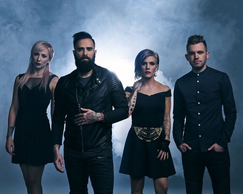 COURTESY: JOSEPH CULTICE - Skillet, which plays the Crystal Ballroom on Sunday, March 5, features (left to right) Jen Ledger, John Cooper, Korey Cooper and Seth Morrison.