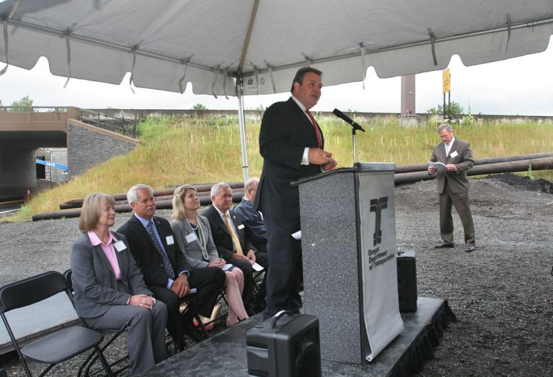 TRIBUNE FILE PHOTO - The work of Matt Garrett, director of Oregon Department of Transportation, has been the focus of a $1 million review, but the consultant won't share the research and earlier draft of the report. He's pictured at the opening ceremony of the Sandy River Bridge in Troutdale in 2014.