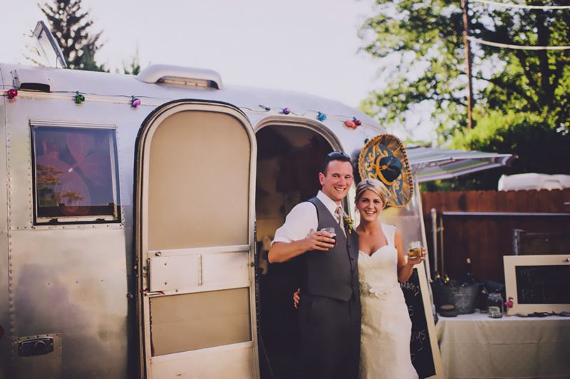 COURTESY: GREG HOSKINS - Dave and Meghaan Cummings celebrated their wedding at the Tin Cantina. The owner Deanna Wohlgemuth sought legal advice from the Small Business Legal Clinic.