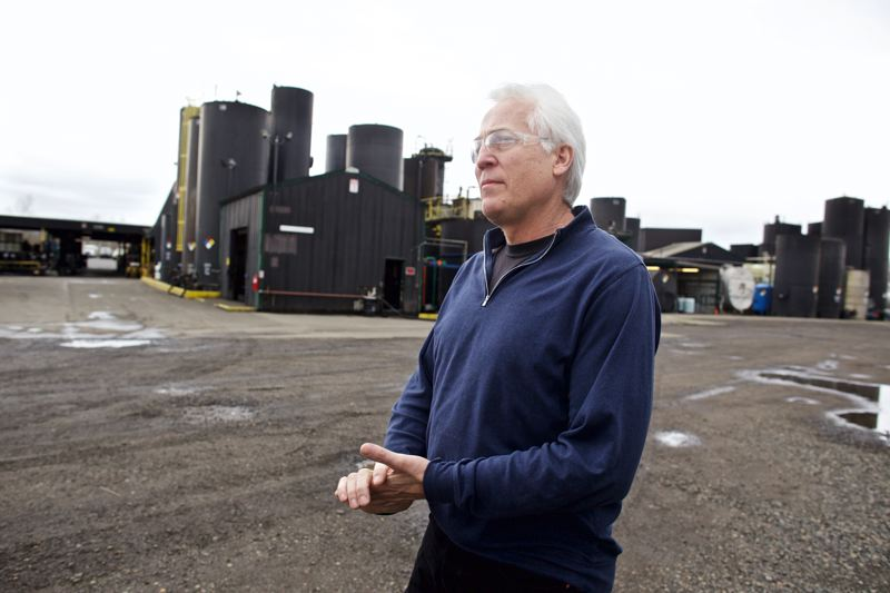 TRIBUNE PHOTO: JAIME VALDEZ - Scott Briggs, owner of ORRCO, says hes making improvements to his oil recycling plant that should address all odor concerns.