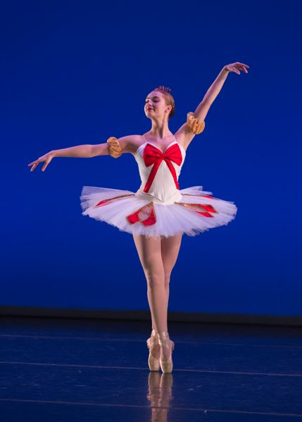 PHOTO BY BLAINE TRUITT COVERT - Above, Naomi Rux performs in The Portland Ballet's holiday show held from Nov. 25 to 27 last fall. Rux, 19, is an Oregon City resident and graduate of the Alliance Charter Academy.